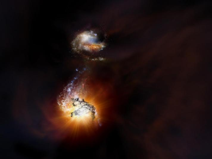 Pair of Exceptionally Rare Hyper-luminous Galaxies Discovered with ALMA.jpg