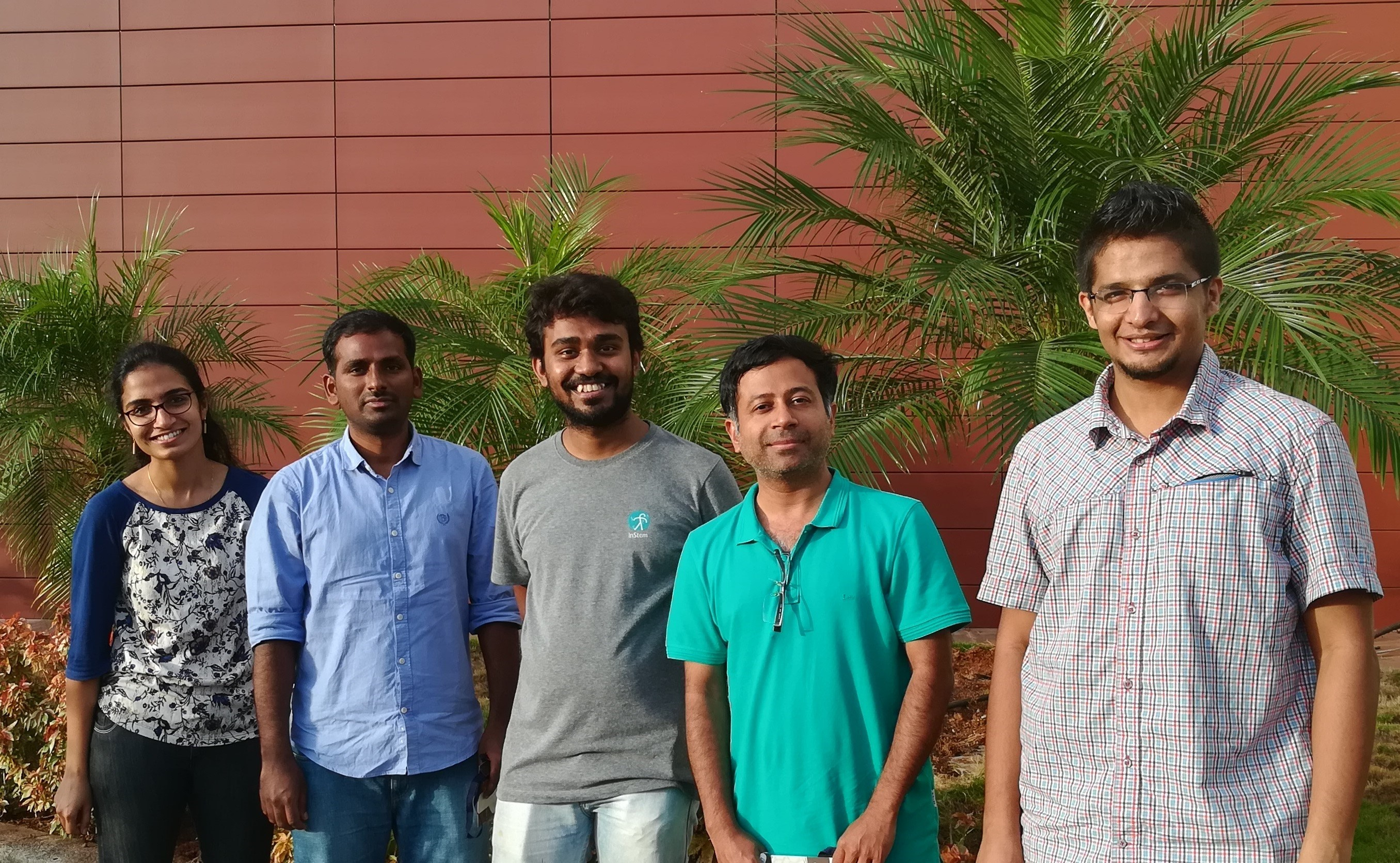 Dr. Ramkumar with members of the research team