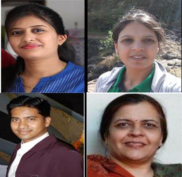 Ms. Chaitali Labade (Top left), Dr. Vaijayanti Tamhane (Top right), Mr. Abhilash Jadhav (Bottom left), Dr. Smita Zinjarde (Bottom right).png